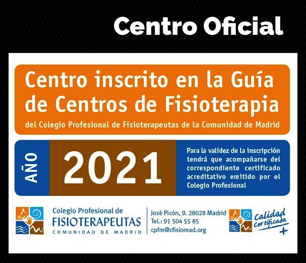 Centro inscrito en la Guía de Centros de Fisioterapia 2021